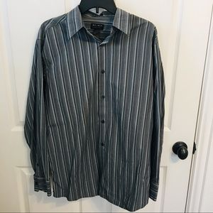 mens Axcess striped button down L